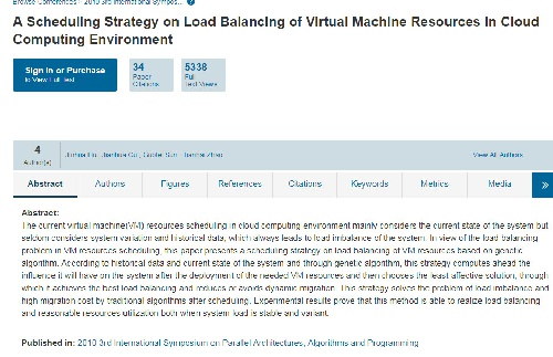 1966457 ترجمه مقاله استراتژی برنامهریزی در توزیع بار منابع ماشین مجازی در محیط محاسبات ابری